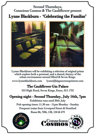Flyer for Lynne Blackburn's solo exhibition at The Cauliflower